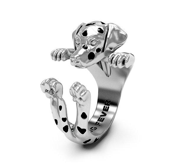Hug Ring, Dalmatian - Sterling Silver