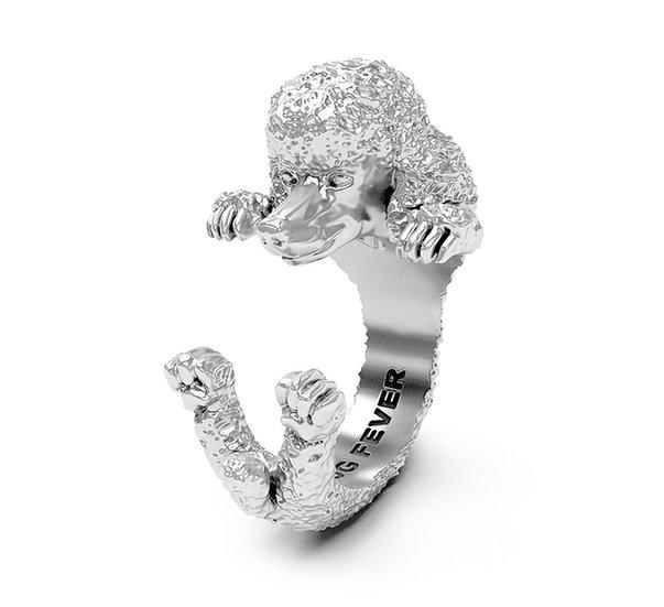 Hug Ring, Poodle -Sterling Silver