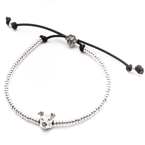 Head Bracelet, American Staffordshire - Sterling Silver