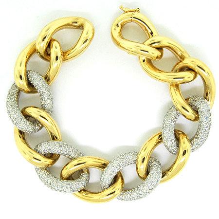 Four Diamond Links Bracelet