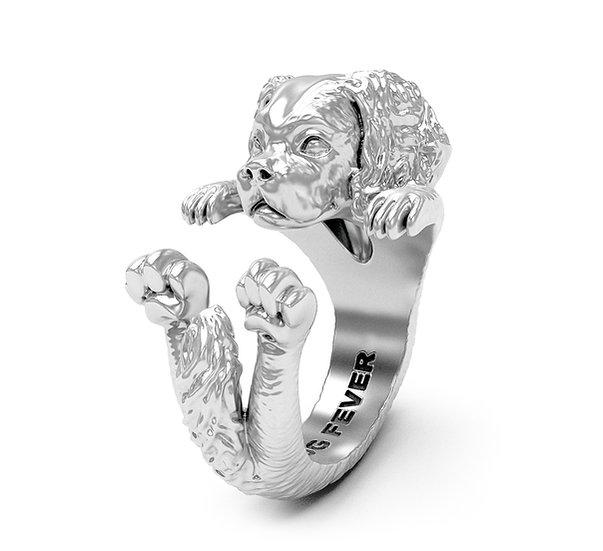 Hug Ring, Cavalier King Charles Spaniel - Sterling Silver