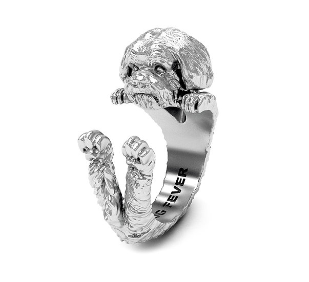 Hug Ring, Shitzu - Sterling Silver