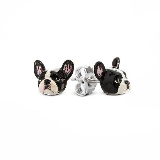 Earring -Enamel, Sterling Silver