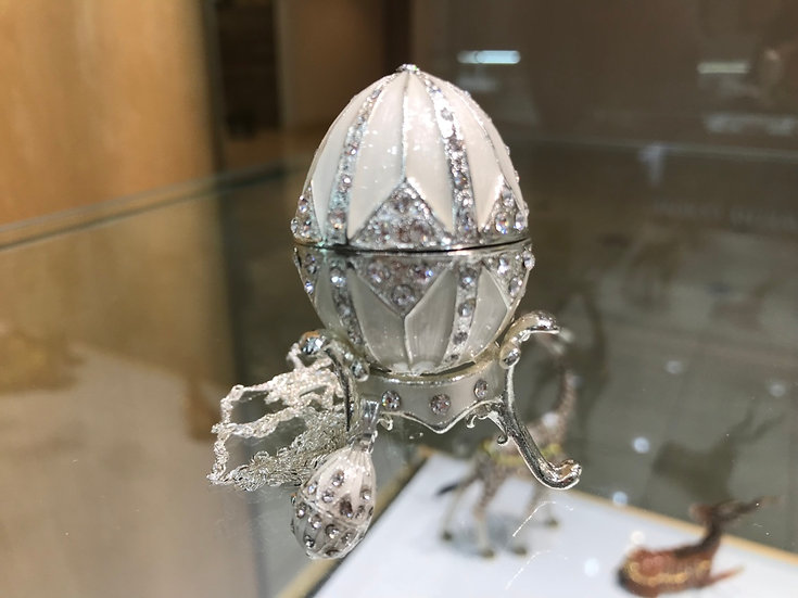 Peaceful Silver Egg