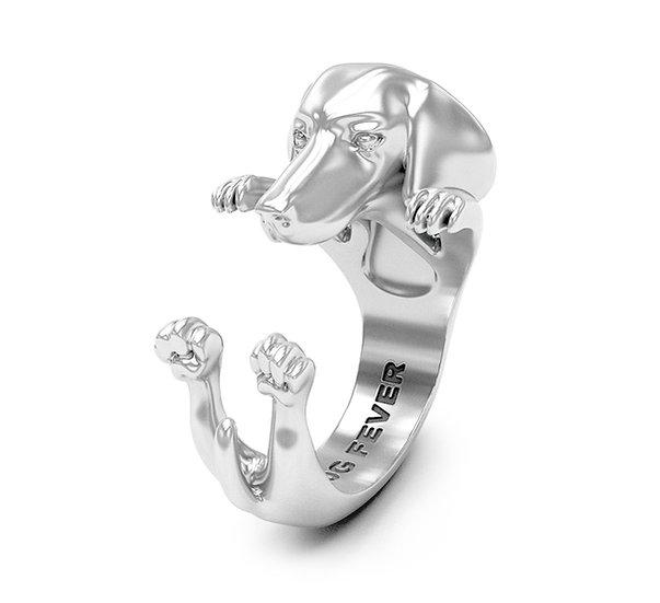 Hug Ring, Dachshund - Sterling Silver