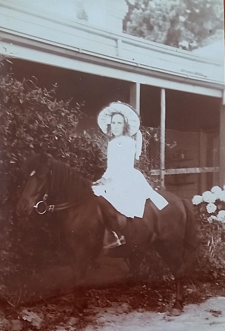 Avis Smith on her pony
