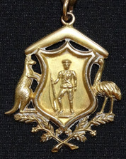 Medal presented to Wally Gribble of Pakenham South
