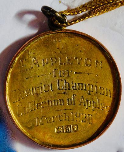 Pakenham Show Prize won by Ted Appleton in 1920