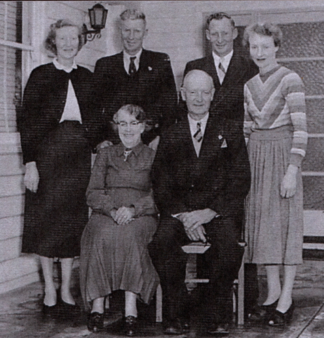 Bert & Annie Wisewould and family 1956