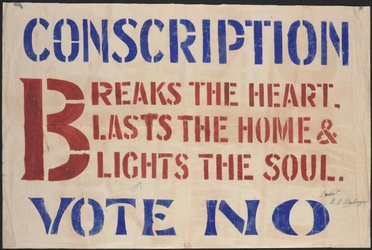 Anti-conscription poster