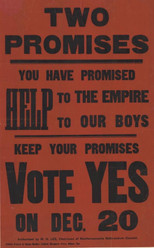 Pro-conscription poster