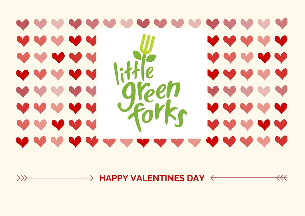 """Little Green Forks is the perfect choice for a unique Valentines Day. Choose a plant-based meal to say, """"I love you""""."""