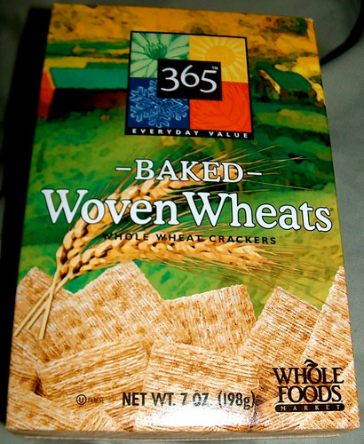Box of Baked Woven Wheats made by Whole Foods