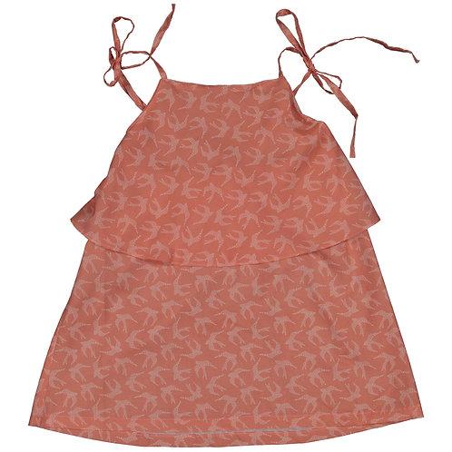 swallows salmon ties dress