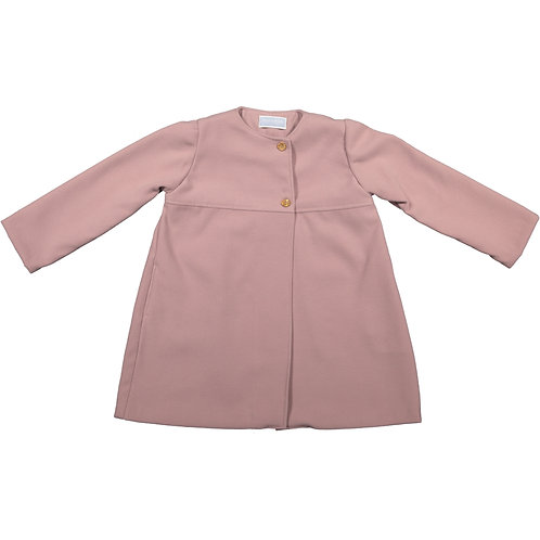 Pink Buttoned breasted coat