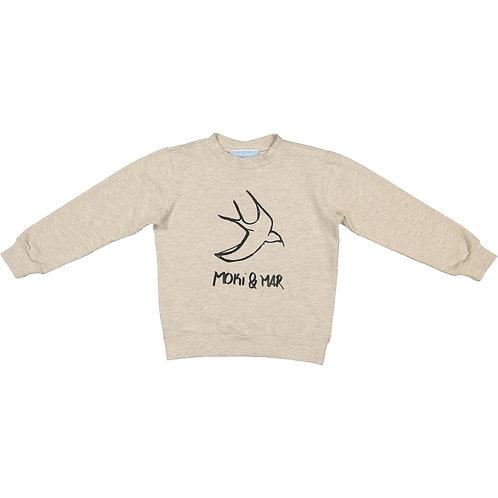 Dark Swallows Print Sweatshirt
