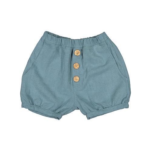 Linen Blue Shorts