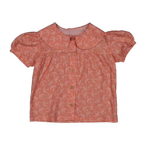 swallows salmon blouse