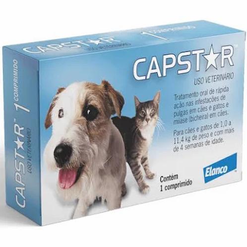 Antipulgas Elanco Capstar 11 mg para Cães e Gatos até 11,4 Kg - 1 comprimido