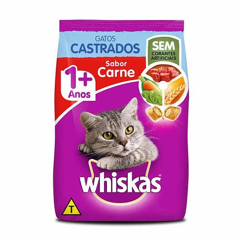 Ração Whiskas para Gatos Adultos Castrados Sabor Carne - 10 kg