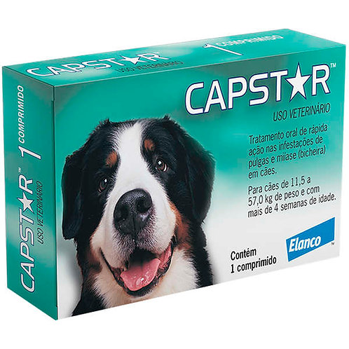Antipulgas Elanco Capstar 57mg para Cães de 11 a 57kg - 1 comprimido