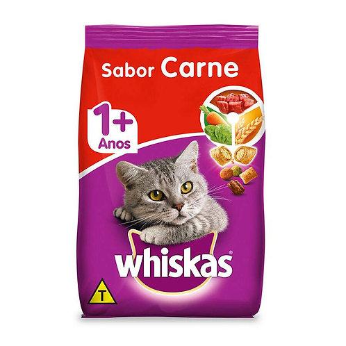 Ração Whiskas para Gatos Adultos Sabor Carne - 10kg