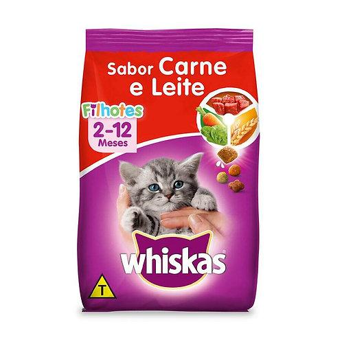 Ração Whiskas para Gatos Filhotes Sabor Carne e Leite - 10 kg