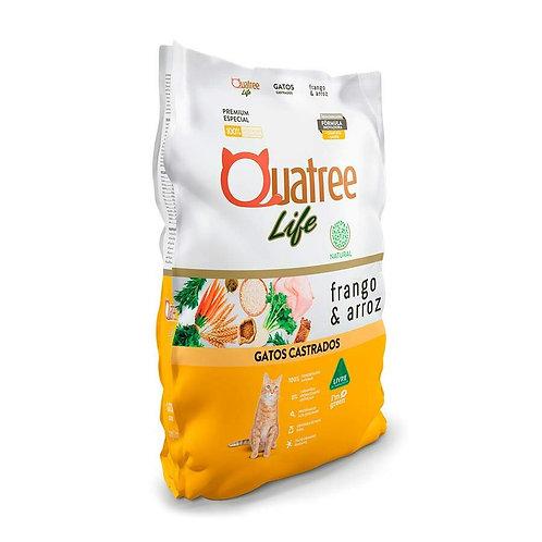 Ração Quatree Life para Gatos Castrados Sabor Frango e Arroz - 10kg