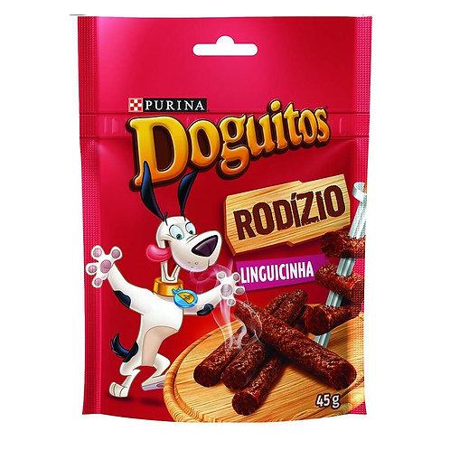 Petisco Doguitos Rodízio para Cães Adultos e Filhotes Sabor Linguicinha - 45g
