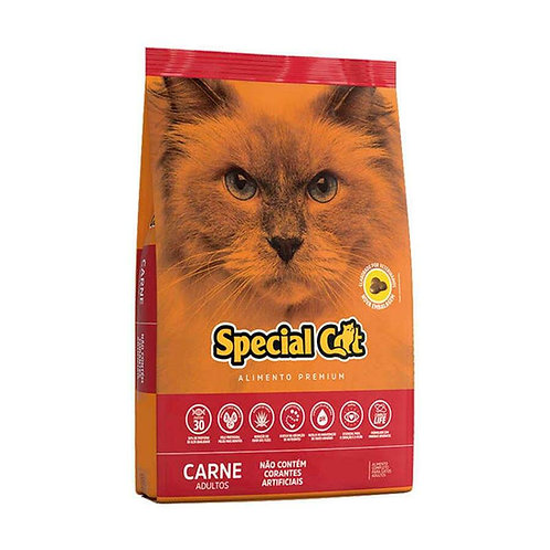 Ração Premium Special Cat para Gatos Adultos Sabor Carne - 10kg