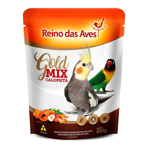 GOLD MIX CALOPSITA - REINO DAS AVES 500g