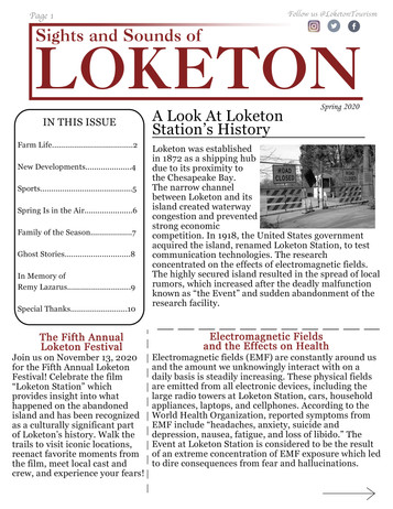 Loketon newsletter with insight into the culture and happenings of our town