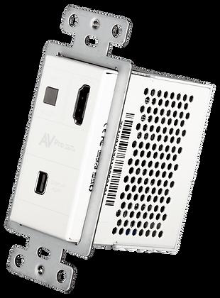 Mini DisplayPort/HDMI Wall Plate Transmitter via HDBaseT