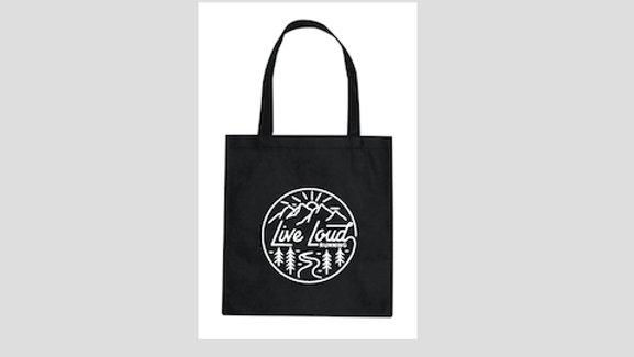 Live Loud Tote Bag