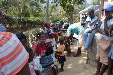 Mobile medical clinic in Haiti with staff from Bethesda Medical Center