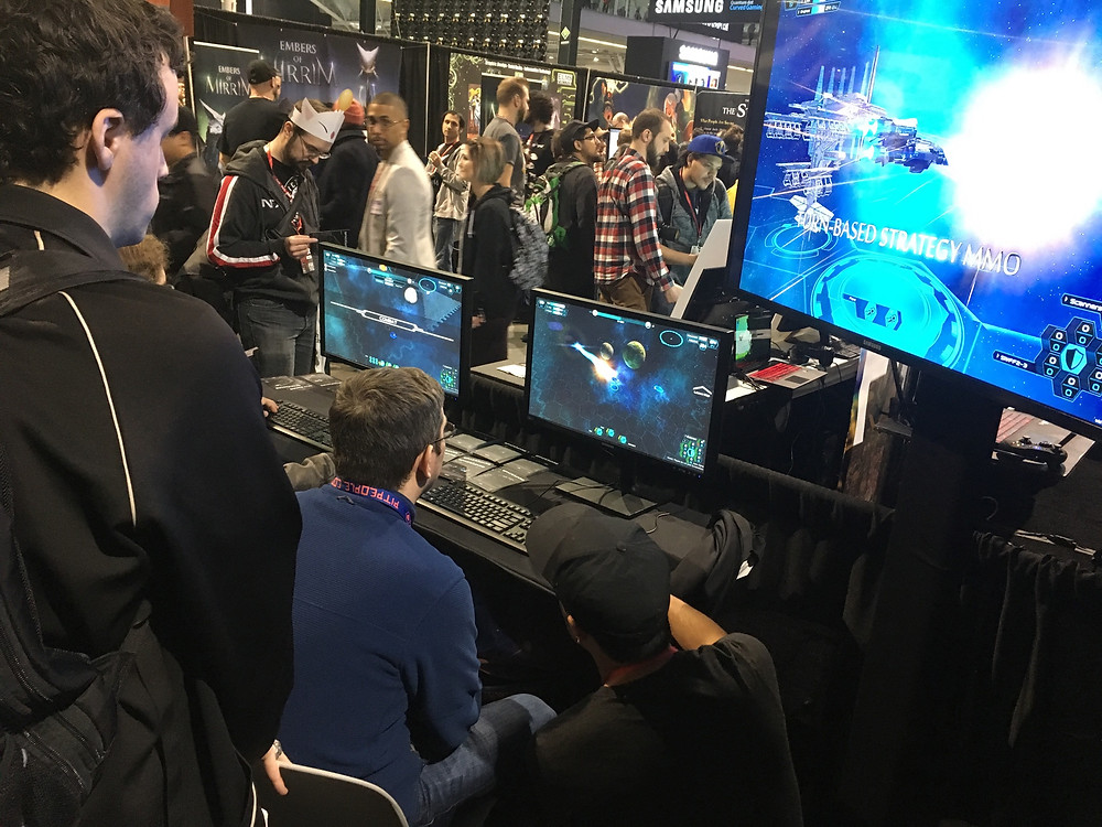 Two players learning how to engage in skirmish