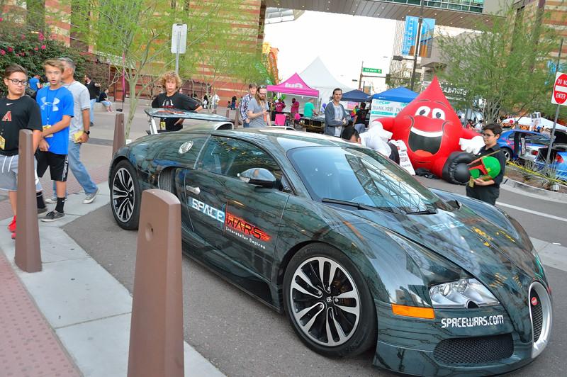 Bugatti at main entrance
