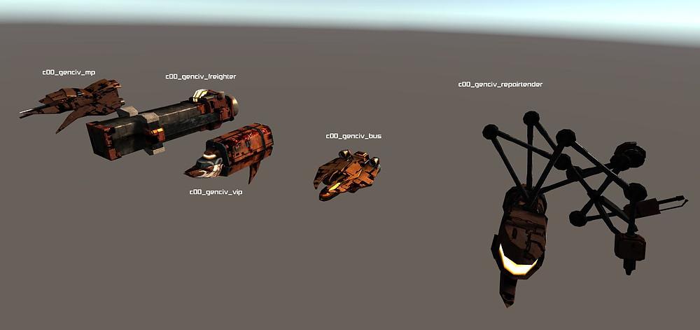 Genari NPC Ships