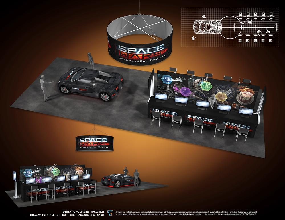 SpaceWars Booth at PAX