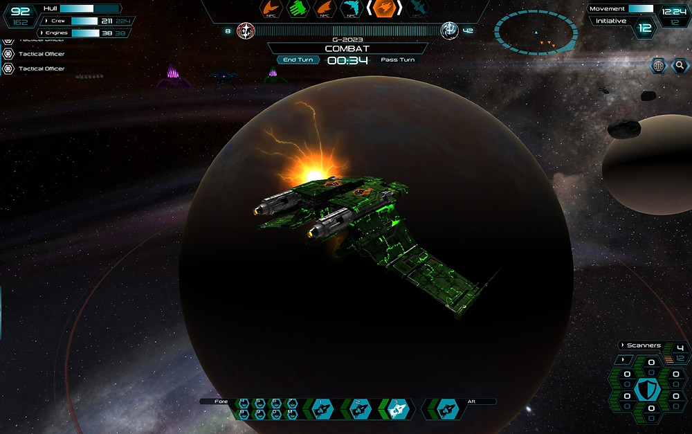 A Genari Guardian III on the receiving end of a Hive plasma attack