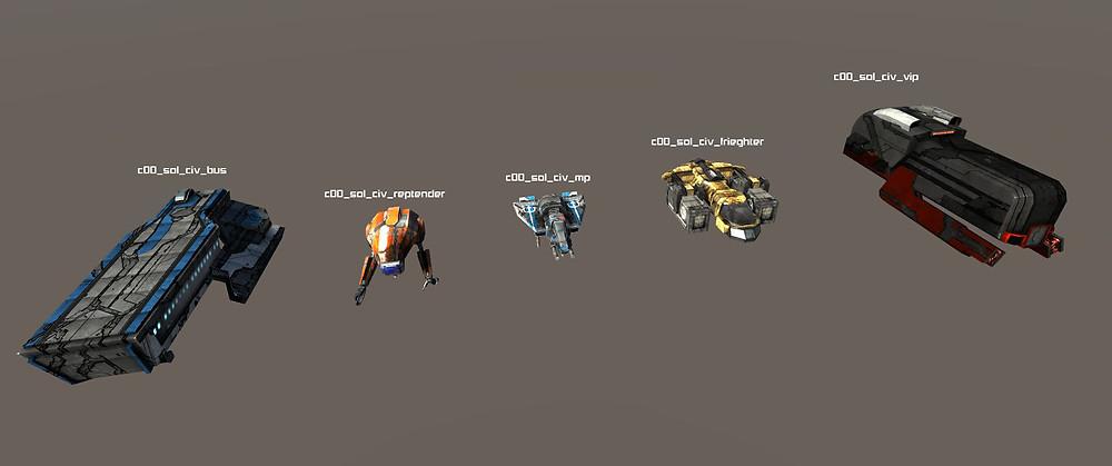 Some Sol NPC Ships