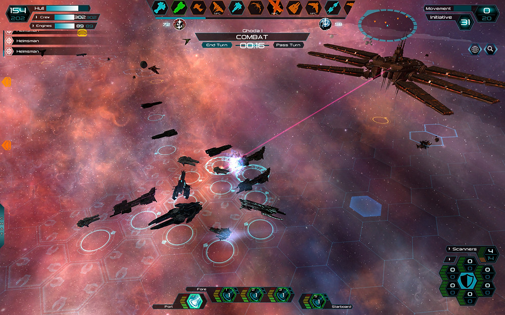 A Fleet of Sol Capital Ships and repair tenders taking on the Battlestation with Genari warships in the distance
