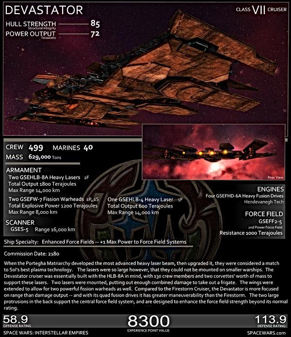 Genari Firestorm Stats