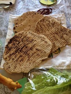 Yemenite Matza Baking