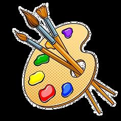 92309248-palette-mit-farben-und-pinseln-