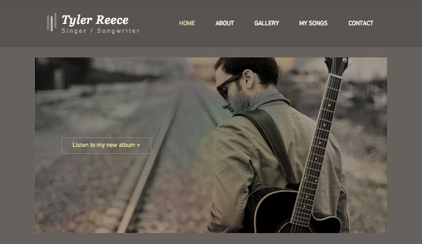 Solo Artist website templates – Singer Songwriter