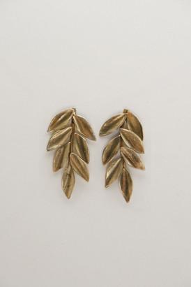 Pendientes de hojas M