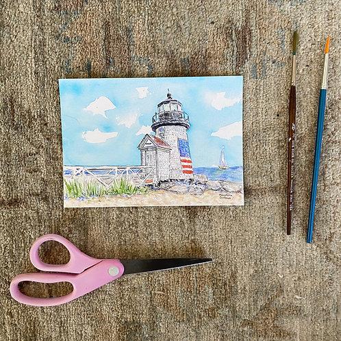 Brant Point Lighthouse - Nantucket - Original Painting