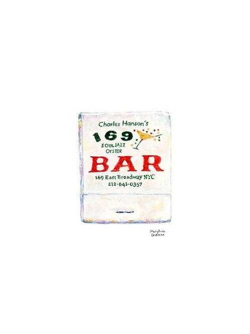 169 Bar Matchbook