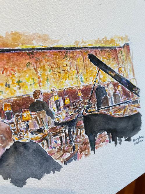 Bemelman's Bar - Carlyle Hotel - NYC - Piano Scene - Original Painting